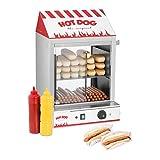 Royal Catering Hot Dog Steamer RCHW 2000 Würstchenwärmer für bis 200 Würstchen 50 Brötchen Warmhaltegerät 2000 W Ablassventil