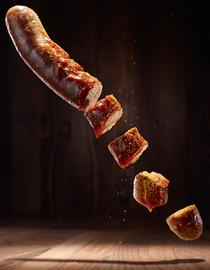 Currywurst Scheiben
